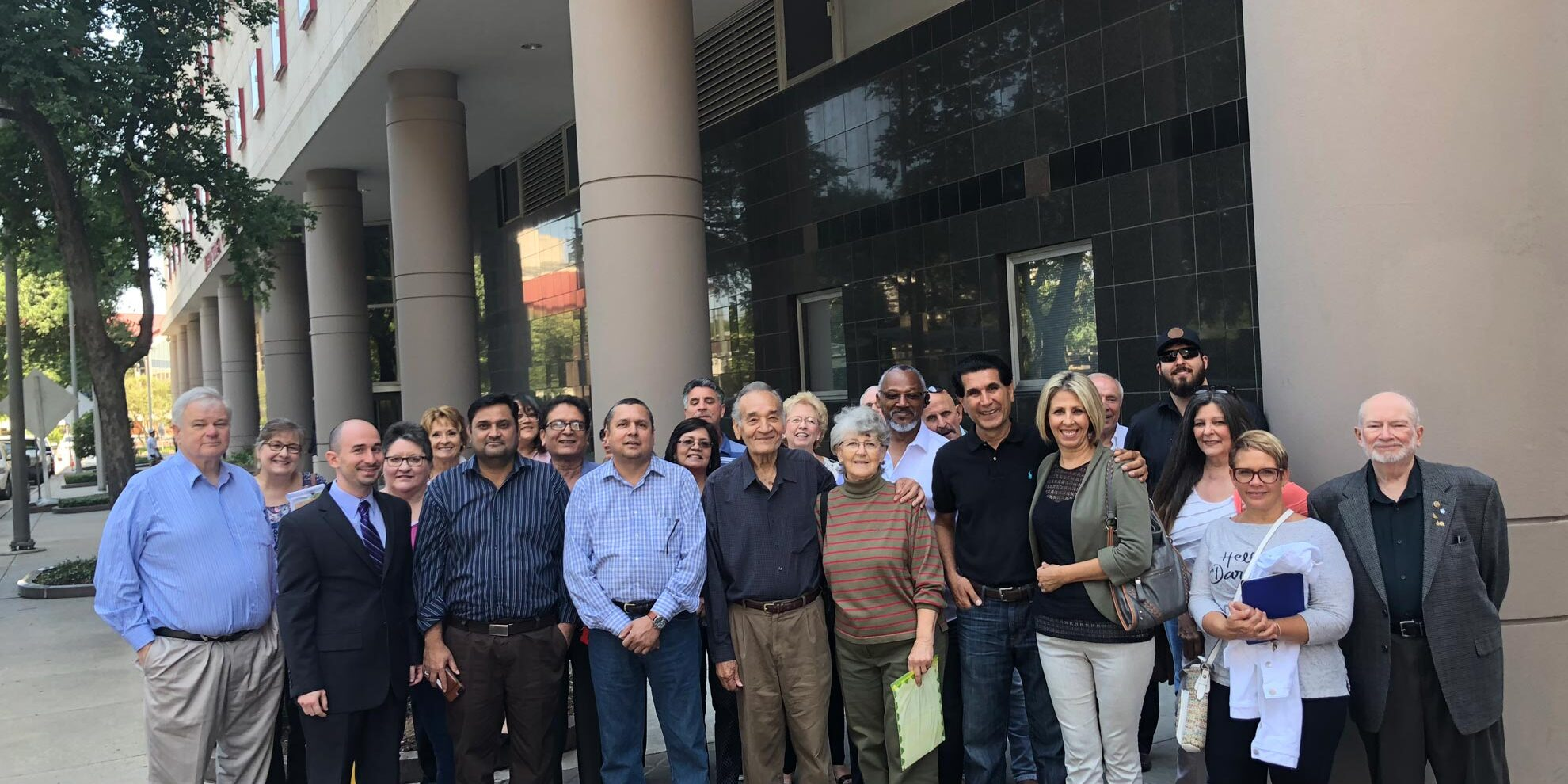 Some clients of VB Attorneys at the  Houston Federal Courthouse for May 16, 2018 hearing.